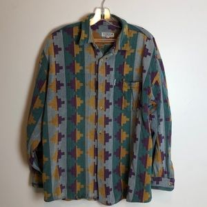 cool vintage 80's Santa Fe style Citron shirt